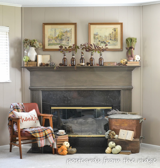 The Fall Ideas Tour Day One - Mantel Inspiration by Postcards from the Ridge via Prodigal Pieces.www.prodigalpieces.com #prodigalpieces