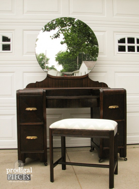 16 Amazing Vanity Makeovers from Art Deco to Antique - a must see! by Prodigal Pieces. www.prodigalpieces.com #prodigalpieces