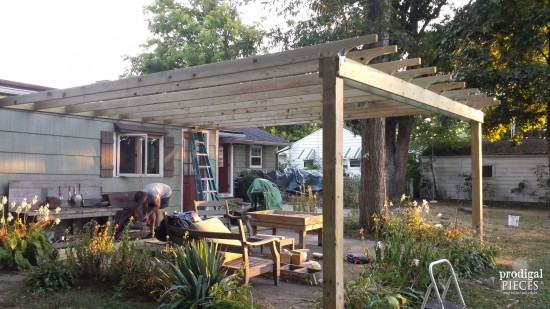 If You Give a Lady a Patio Set...this major patio overhaul is the result of receiving a free patio set. With a DIY attitude, we're creating an outdoor room complete with pergola, dining, swing, and living room. Come see! by Prodigal Pieces www.prodigalpieces.com #prodigalpieces