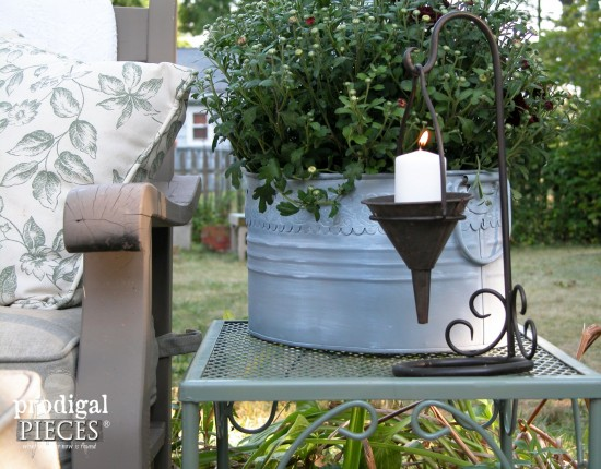 Two thrifted planters get a faux zinc makeover that take them from throw away to French beauties by Prodigal Pieces www.prodigalpieces.com #prodigalpieces