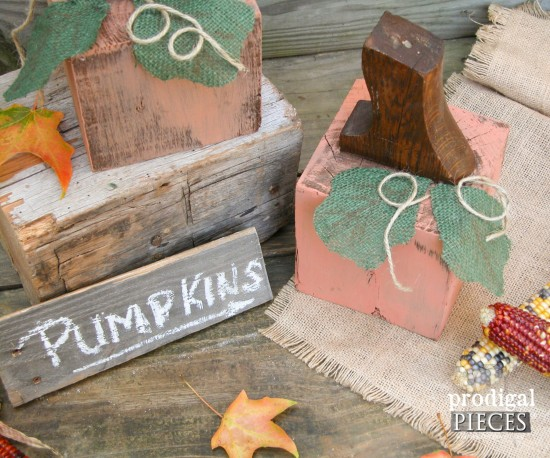 Getting junky with it an kickin' off the fall season with some repurposed pumpkins. They'll make you ready to dig into your stash! by Prodigal Pieces www.prodigalpieces.com #prodigalpieces