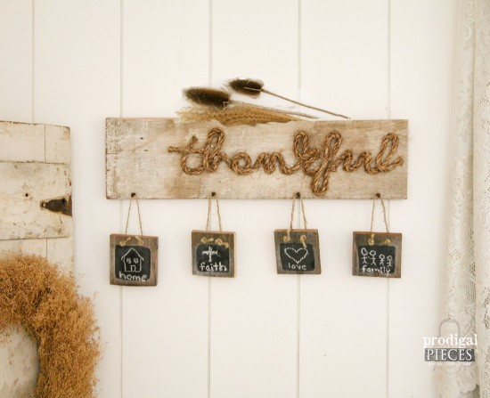 Make Your Own Thankful Sign with Tutorial by Prodigal Pieces | www.prodigalpieces.com