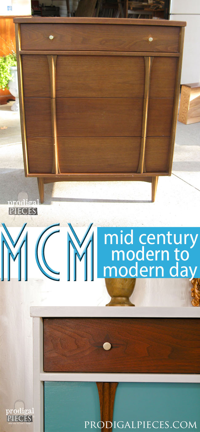 Bringing Modern Style to Mid Century Modern Piece of Furniture by Prodigal Pieces | prodigalpieces.com