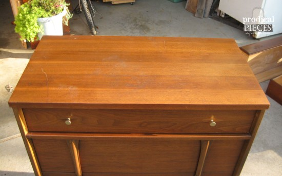 Top of Mid Century Dresser | Prodigal Pieces | prodigalpieces.com