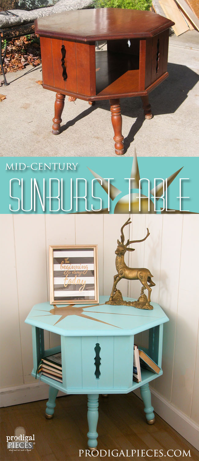 Mid Century Sunburst Table | Prodigal Pieces | www.prodigalpieces.com