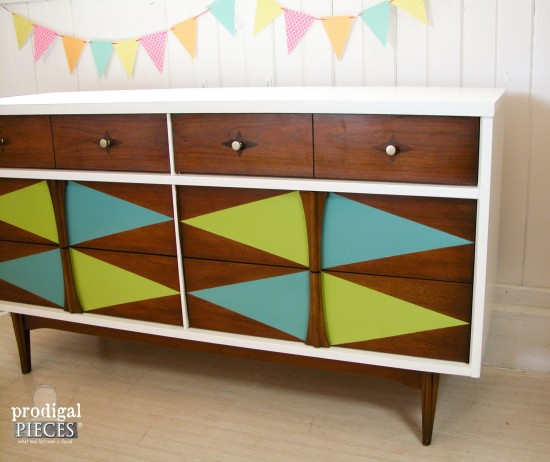 Attractive This Tired Looking Mid Century Modern Bassett Credenza Gets Some Color Fun  With A Pop