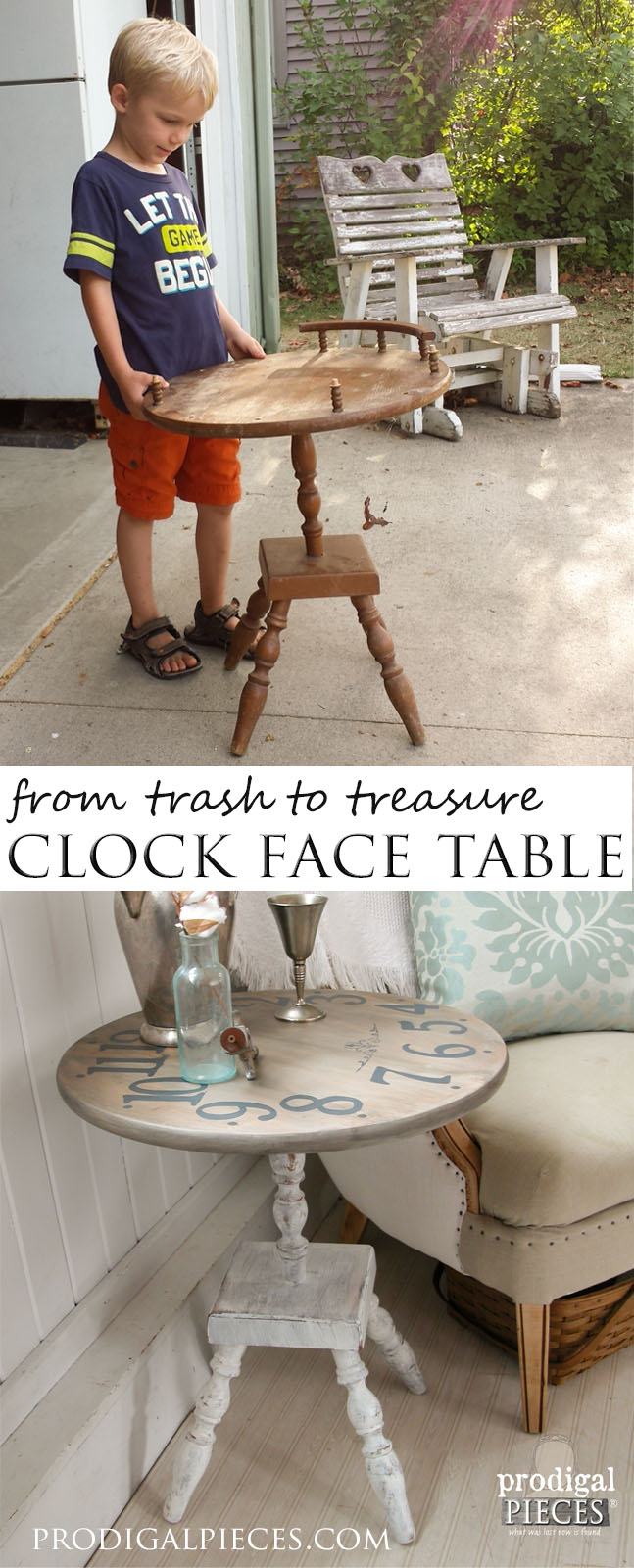 DIY Clock Face Table | Prodigal Pieces | www.prodigalpieces.com