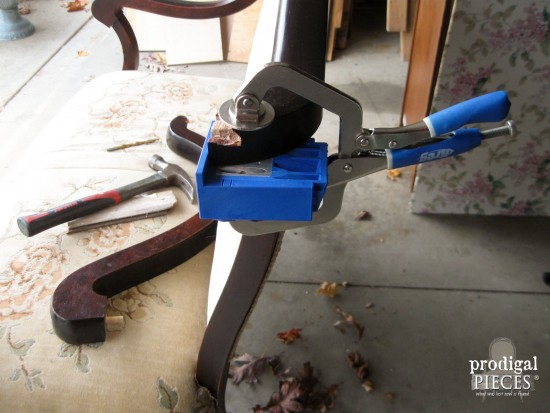 Kreg Jig Repair for Antique Settee | Prodigal Pieces | www.prodigalpieces.com