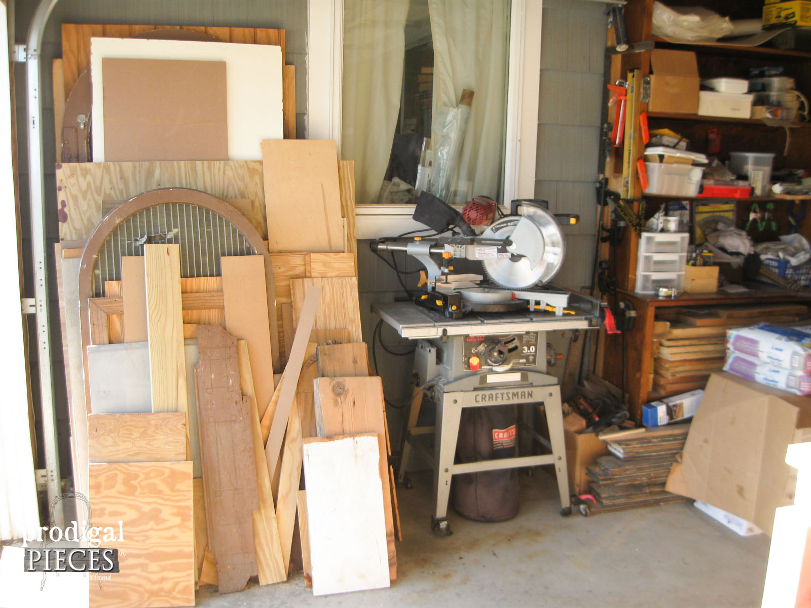 DIY Workshop with Compound Miter Saw by Prodigal Pieces | www.prodigalpieces.com
