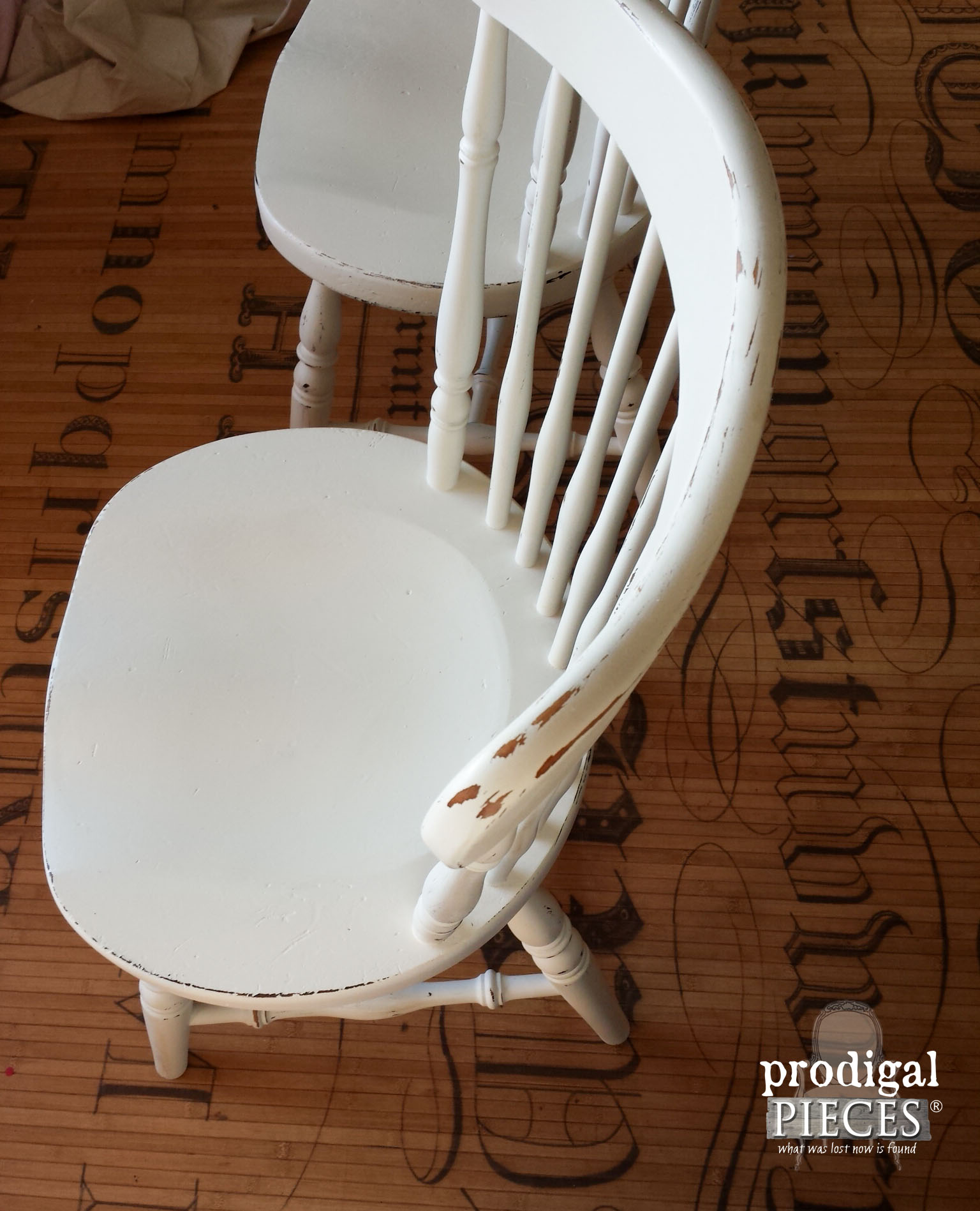 White Farmhouse Kitchen Chair | Prodigal Pieces | www.prodigalpieces.com