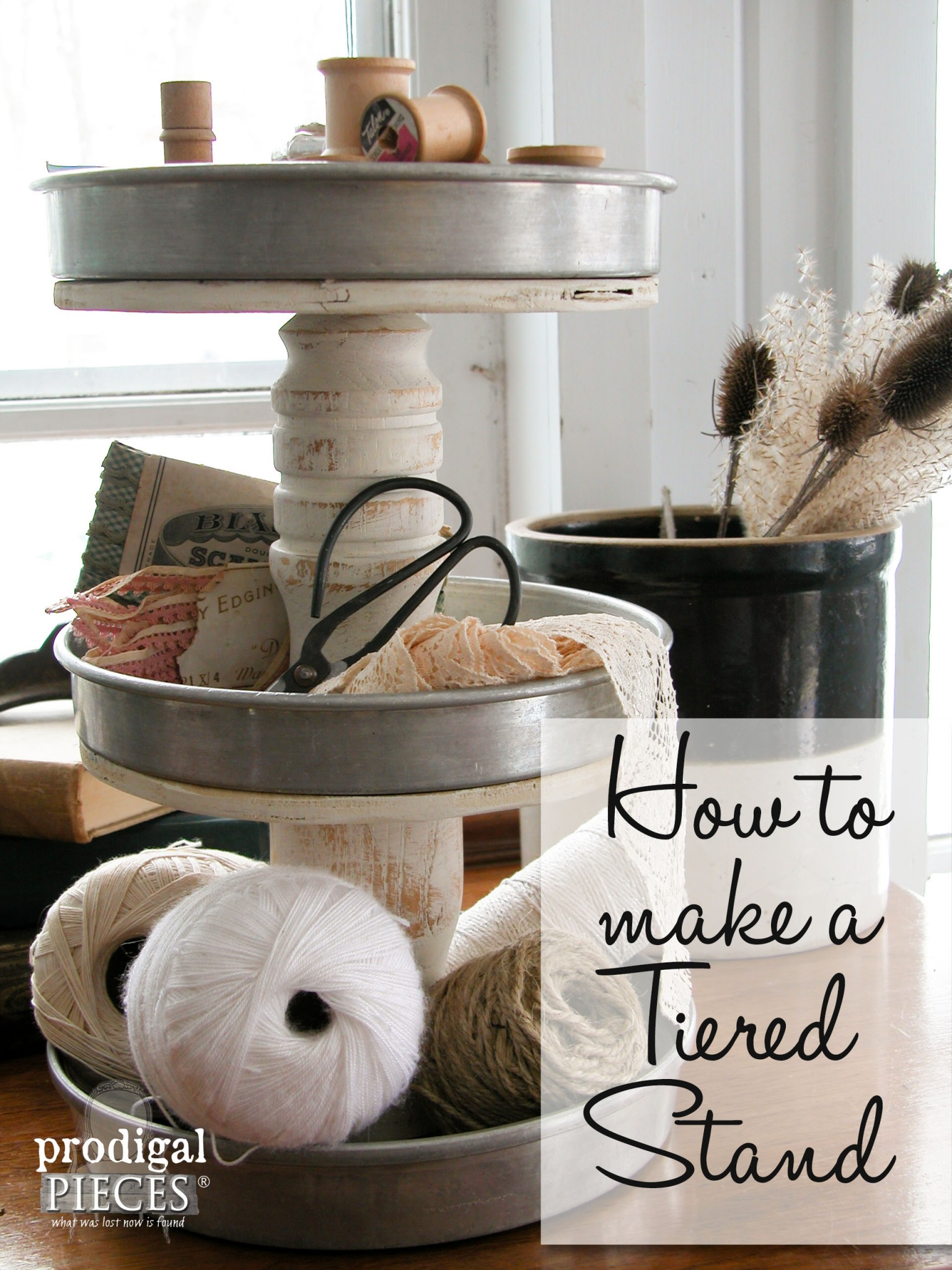 Diy Tiered Stand From Repurposed Junk Prodigal Pieces