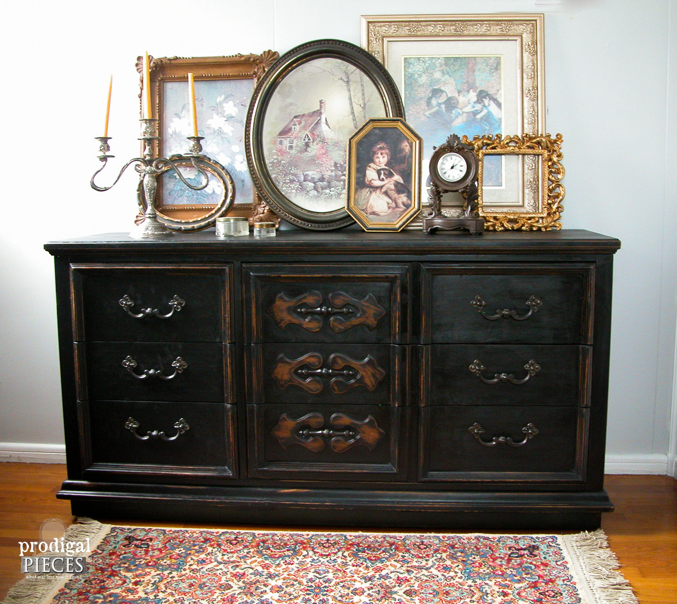 Outdated Mid Century Modern Black Dresser Makeover | Prodigal Pieces | www.prodigalpieces.com