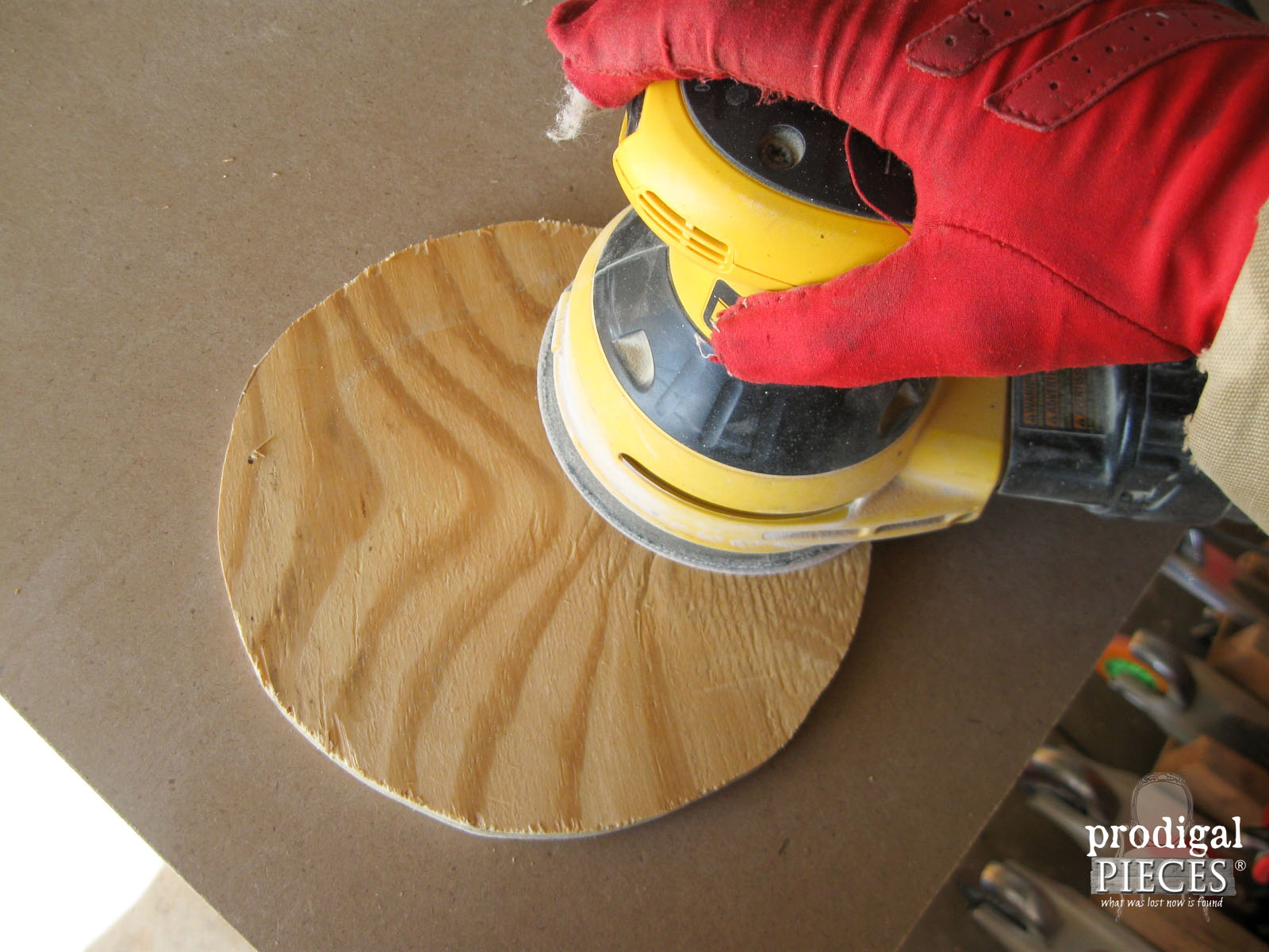 Sanding Plywood Wood Rounds | Prodigal Pieces | www.prodigalpieces.com