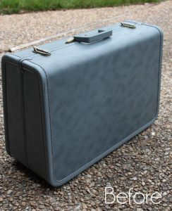 Vintage Luggage Makeover by Confessions of a Serial DIYer