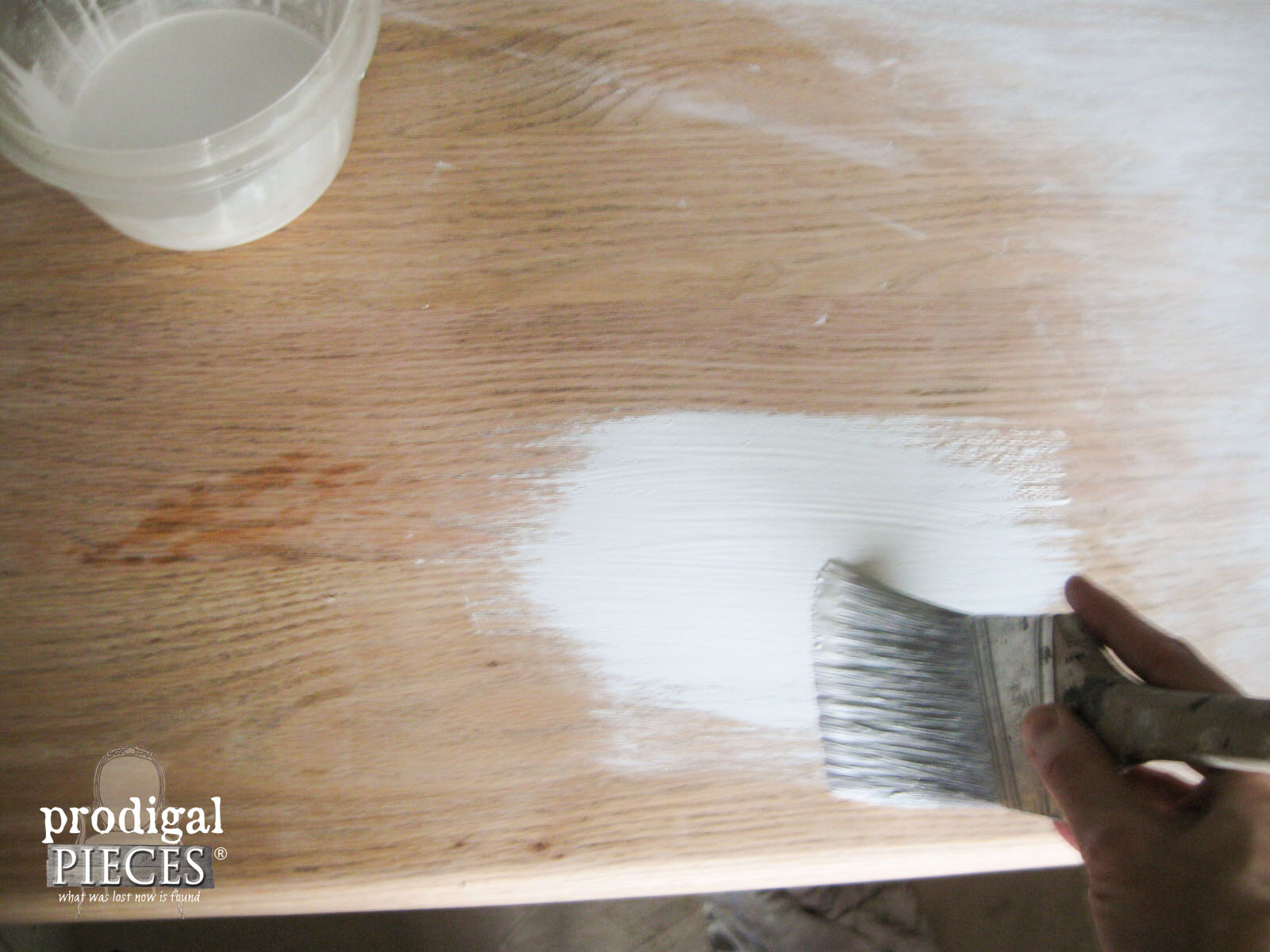 Whitewashing Farmhouse Table | Prodigal Pieces | www.prodigalpieces.com