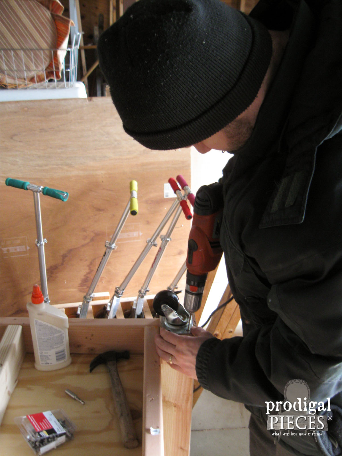 Adding Casters to DIY Workbench by Prodigal Pieces | www.prodigalpieces.com