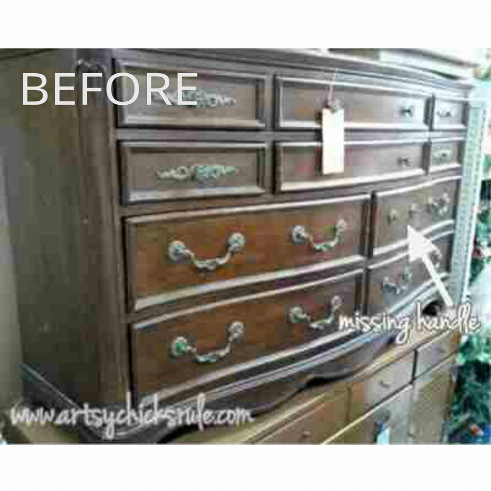 Dresser Makeover by Artsy Chicks Rule